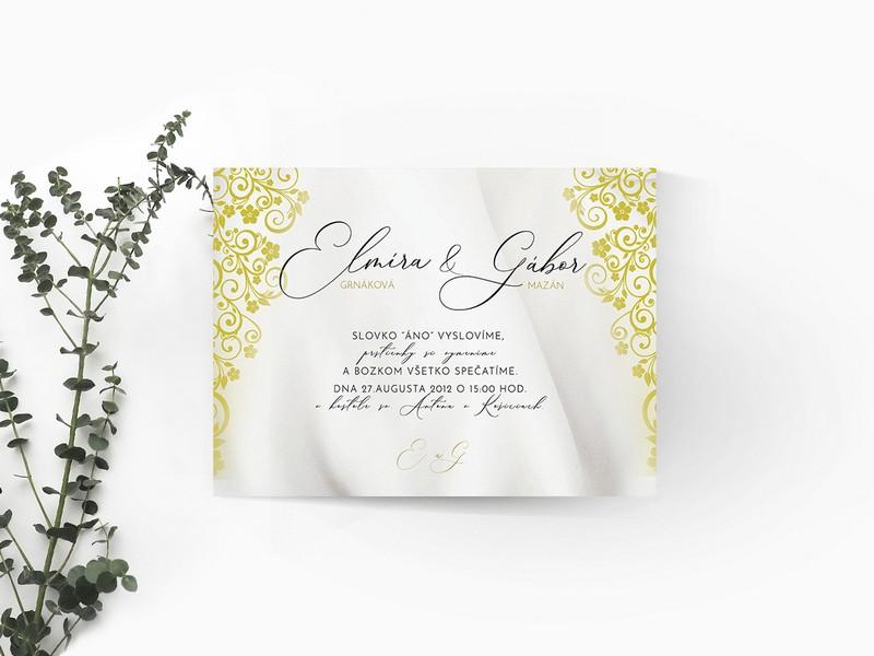 Luxusné svadobné oznámenie LSO70