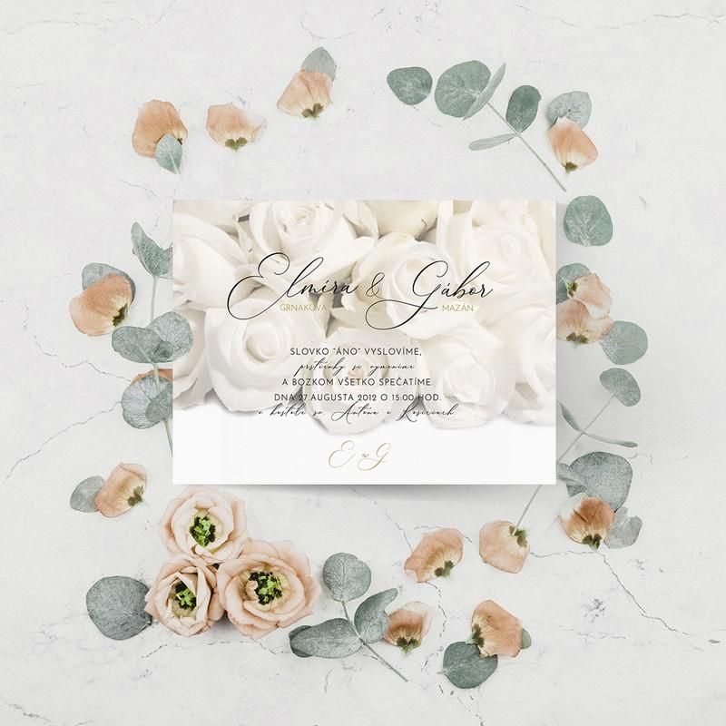 Luxusné svadobné oznámenie LSO71