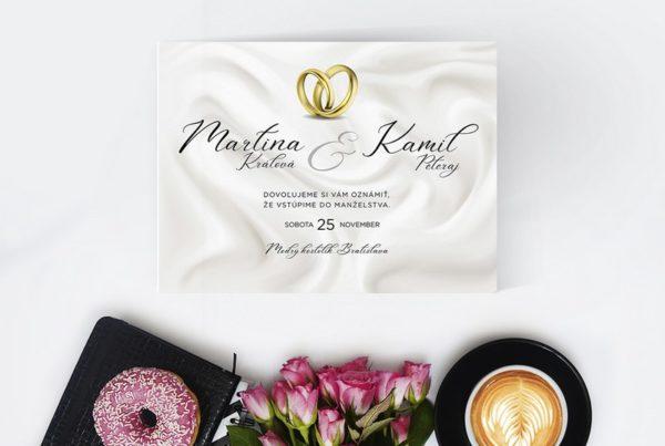 Luxusné svadobné oznámenie LSO73