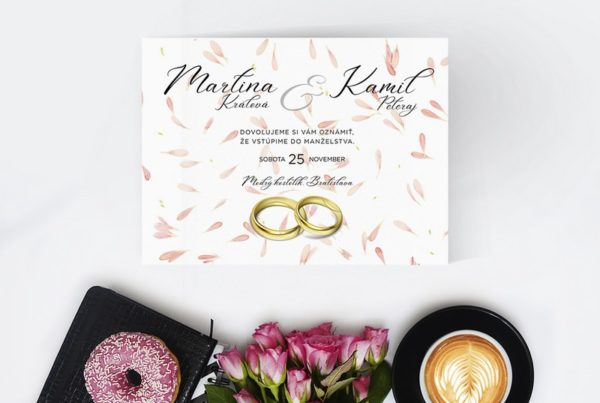 Luxusné svadobné oznámenie LSO74