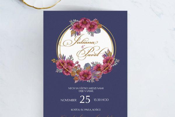 Luxusné svadobné oznámenie LSO75