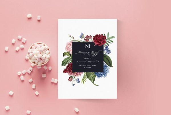 Luxusné svadobné oznámenie LSO78