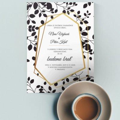 Luxusné svadobné oznámenie LSO79