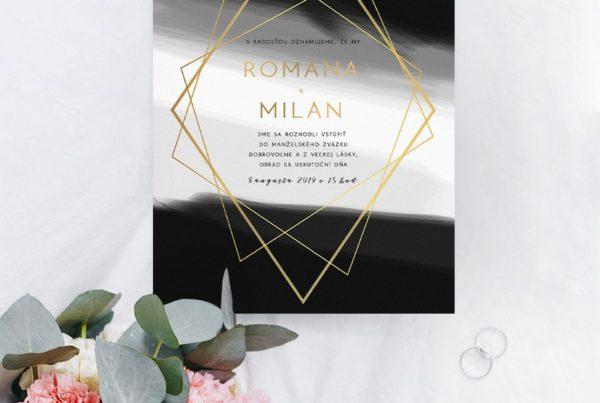 Luxusné svadobné oznámenie LSO85