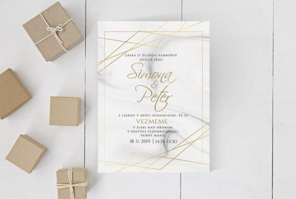 Luxusné svadobné oznámenie LSO87