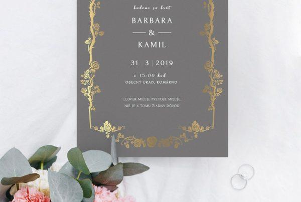 Luxusné svadobné oznámenie LSO88