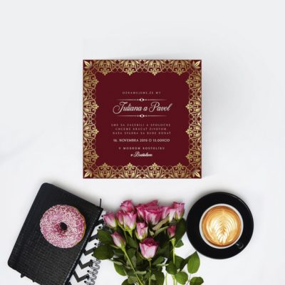 Luxusné svadobné oznámenie LSO89