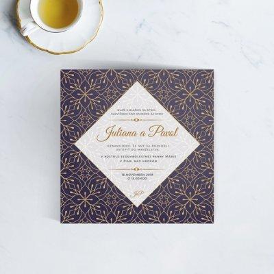 Luxusné svadobné oznámenie LSO90