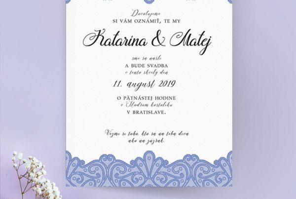 Luxusné svadobné oznámenie LSO92