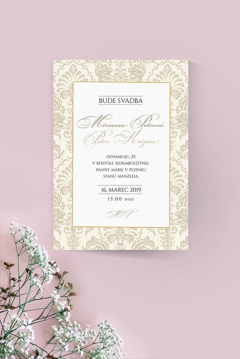 Luxusné svadobné oznámenie LSO96