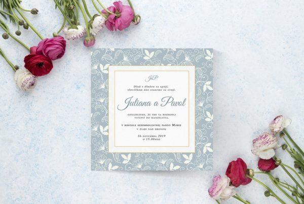 Luxusné svadobné oznámenie LSO97