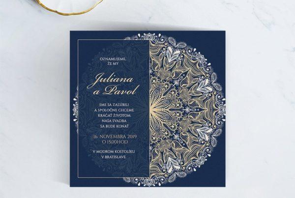 Luxusné svadobné oznámenie LSO98