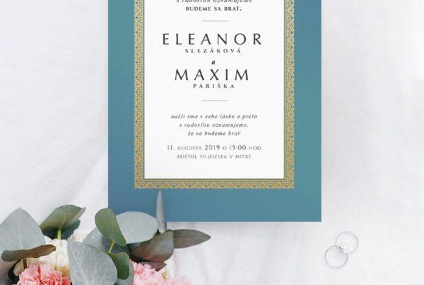 Luxusné svadobné oznámenie LSO99