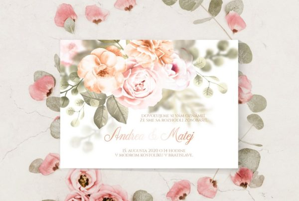 Luxusné svadobné oznámenie NO10