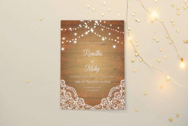 Luxusné svadobné oznámenie NO17