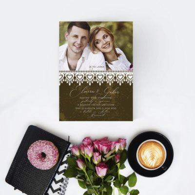 Svadobné oznámenie s fotografiou SFOT42
