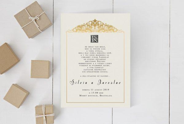 Kreatívne svadobné oznámenie SNAP38