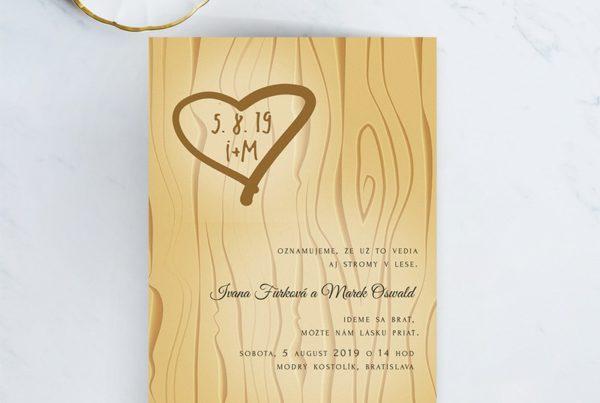 Kreatívne svadobné oznámenie SNAP39