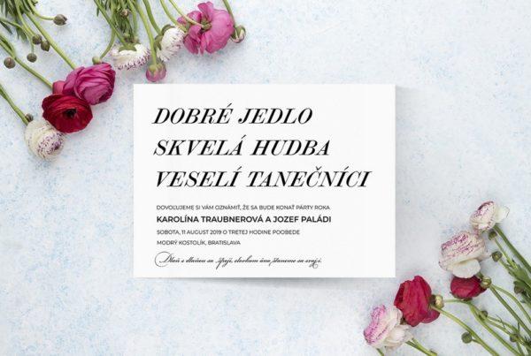 Kreatívne svadobné oznámenie SNAP46