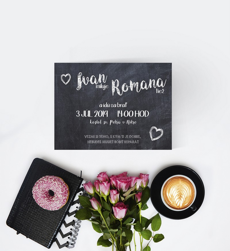 Kreatívne svadobné oznámenie SNAP52
