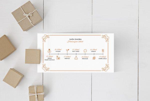Kreatívne svadobné oznámenie SNAP55