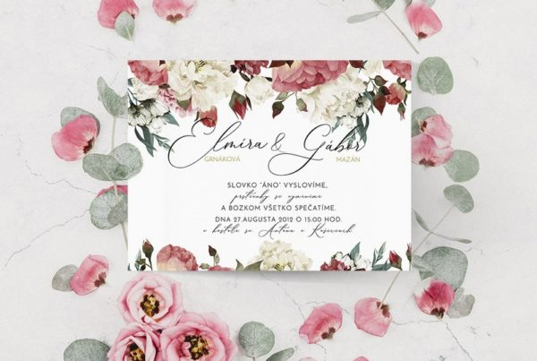 Štýlové svadobné oznámenie SSO70