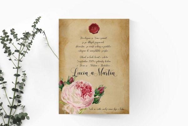 Štýlové svadobné oznámenie SSO85