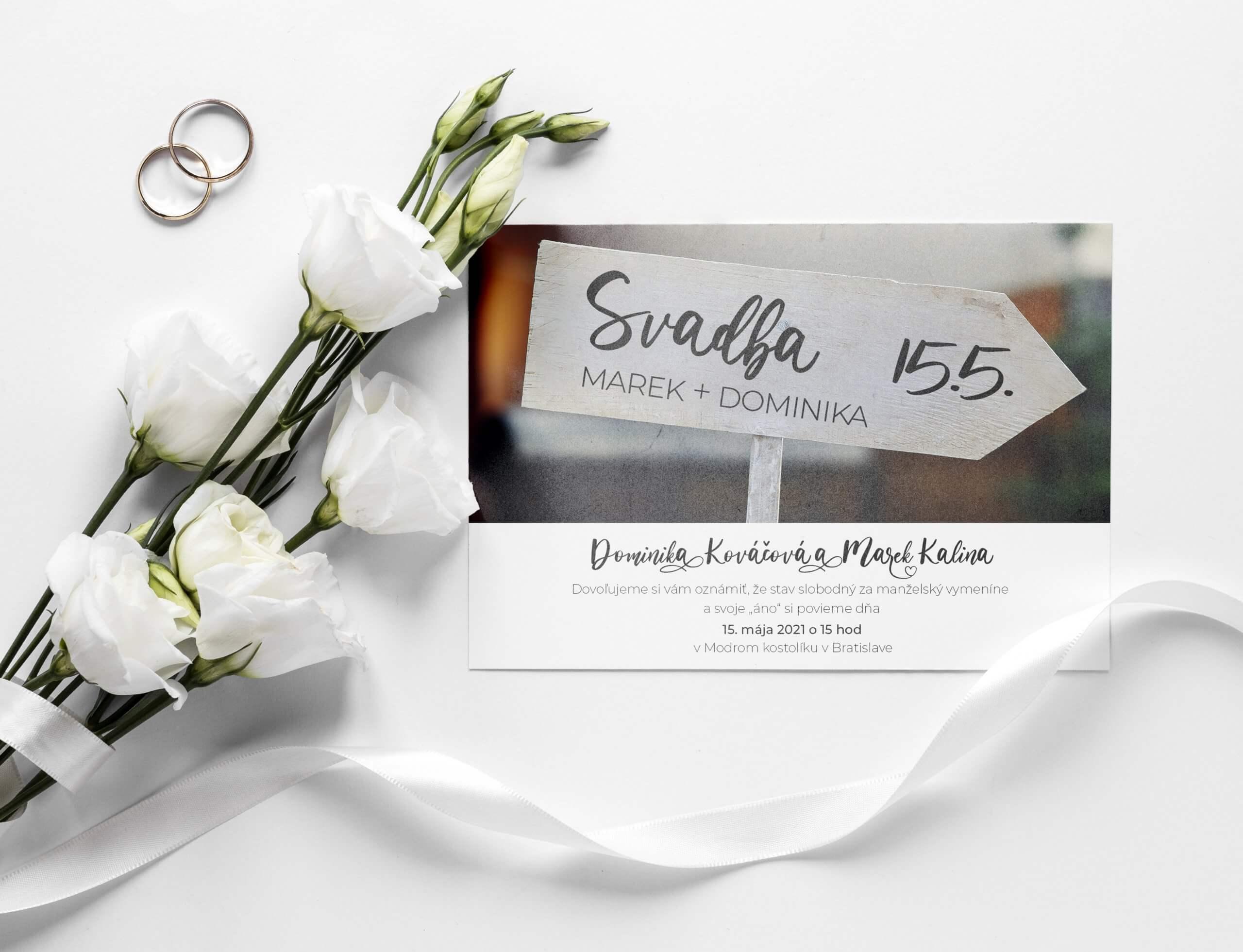 originalne svadobne oznamenie