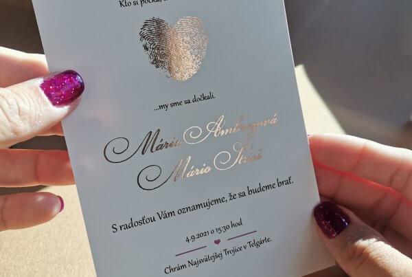 svadobne oznamenie gold foil