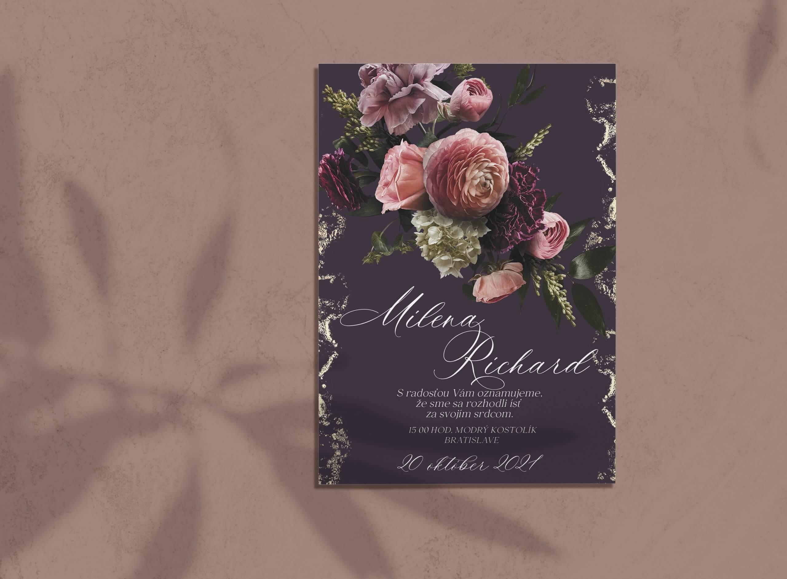luxusne svadobne oznamenia