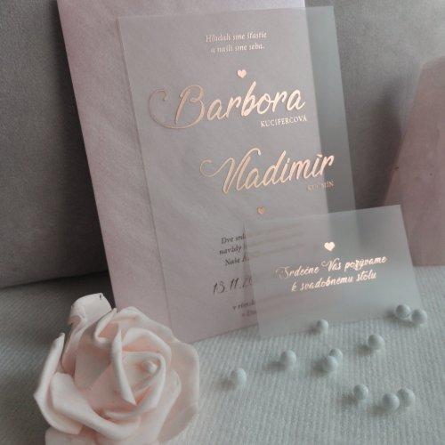 transparentne svadobne oznamenia